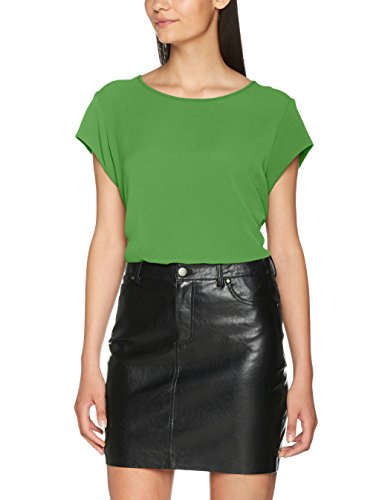 ONLY Damen T-Shirt Onlvic S/S Solid Top Noos WVN, Grün (Leprechaun Leprechaun), 42