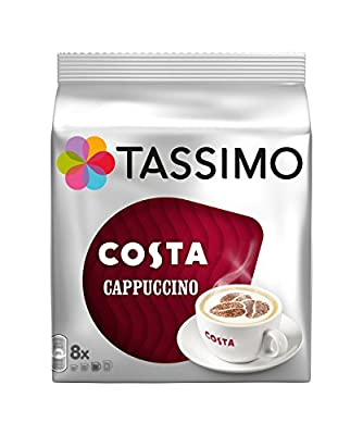 2 x Tassimo Costa Cappuccino 16 Discs / 8 Servings (Total 32 Discs/16 Servings)