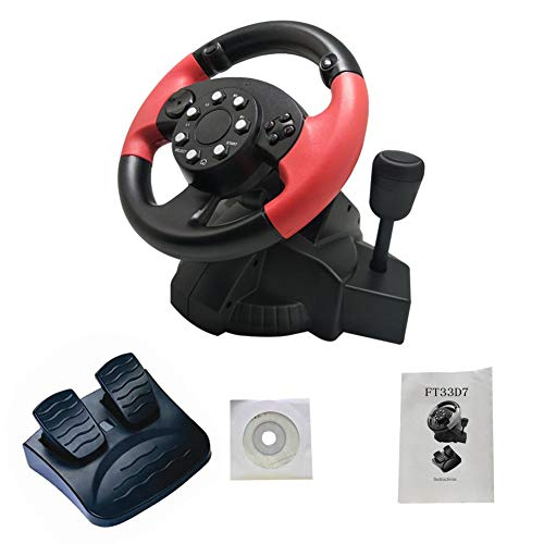 sprintrase FT33 Lenkrad-Pedale mit Vibration des Motors, Simulator für Lenkrad und Gaming Halterung für PS 3/PS 2/PC