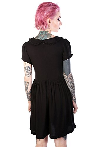 Disturbia Clothing - Robe - Nuisette - Uni - Manches Courtes - Femme Schwarz