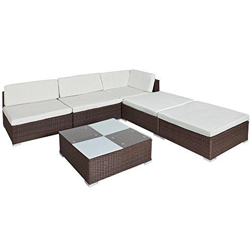 Tectake Hochwertige Luxus Lounge Set Poly Rattan Gartenmobel
