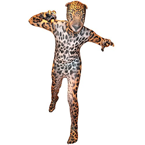 Morphsuits KLJAS - Jaguar Animal Planet Kinder Kostüm, 102-118 cm, Größe S