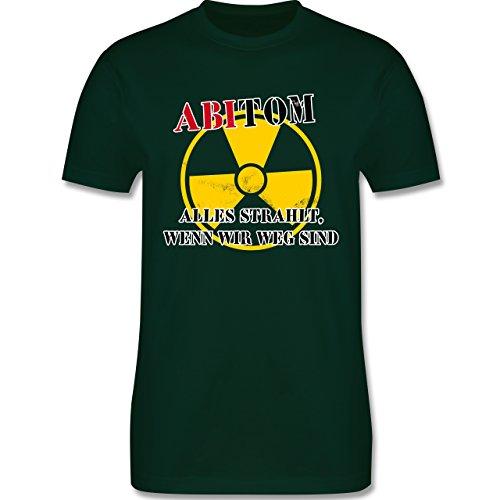 Abi & Abschluss - ABItom- Alles strahlt, wenn wir weg sind - Herren Premium T-Shirt Dunkelgrün