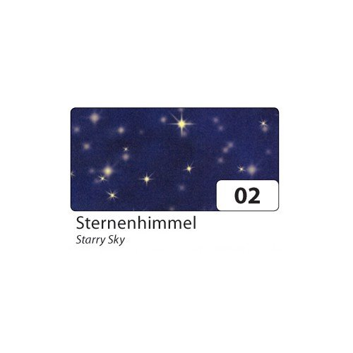 folia 83002 Transparentpapier 115 g/m², 50,5x70cm, Sternenhimmel, dunkelblau (10 Bogen)