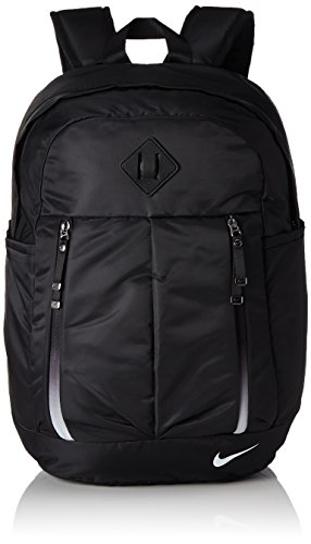 Nike Damen Auralux Rucksack, Black/White, 33 x 18 x 48 cm (Laptop Nike Rucksack)
