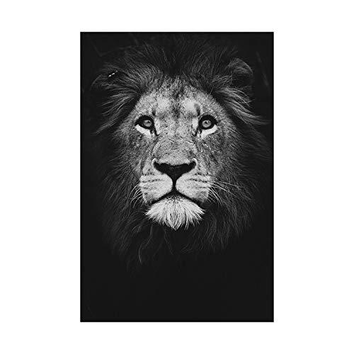 azalea store Leinwand-Malerei Tierwand-Kunst-Löwe   Elefant Deer Zebra-Plakate und Drucke Wandbilder für Wohnzimmer-Dekoration Inneneinrichtungen, 20x25cm kein Rahmen, 01 -