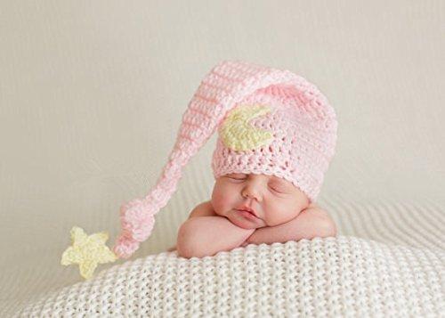 Baby-Outfit für Neugeborene, gehäkelt, ideal als Foto-Requisite, für Jungen und Mädchen geeignet (Baby-Mond)