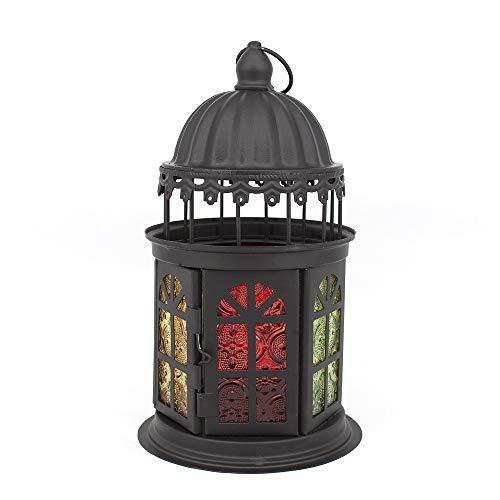 Wand-hurrikan-kerze (YXSHHHL Marokkanische Art-Kerzen-Laterne dekorativer Hurrikan-Kerzenhalter Hochzeit)