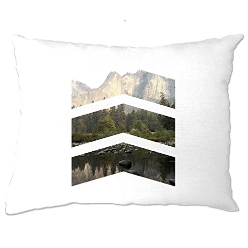 Chevron Photo Image Design Photography Picture Geometric Shapes Landscape Pretty Nature Mountains Pillow Case Bedroom Cool Funny Gift Present