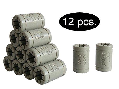 Lot de paliers lisses de mise à niveau Igus – Remplace LM8UU – Pour imprimante 3D RepRap Mendel – Anet A6, A8 ou Prusa i3 au choix