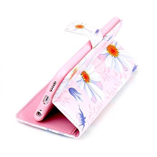 iPhone 6/6S Hülle im Bookstyle, Xf-fly® PU Leder Flip Wallet Case Schutzhülle für Apple iPhone 6/6S (4.7 Zoll) Tasche Handytasche mit Magnetverschluss Kartenfach Standfunktion Muster Handyhülle P-6