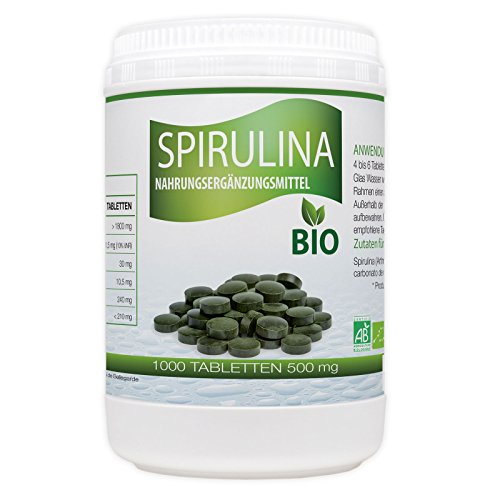 Spirulina Bio 500mg - 1000 Tabletten -