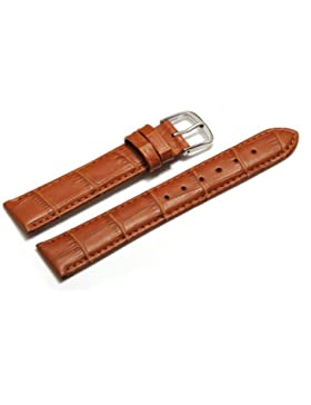 Uhrenarmband - Orig. Watchband Berlin - Kroko Prägung - hellbraun - 14mm