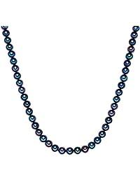 Valero Pearls - Collar de perlas embellecido con Perlas de agua dulce - Hilo de seda - 925 Plata esterlina - Pearl Jewellery, Cadena de Hilo de seda - 60020058