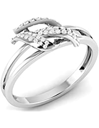 LOLLS 0.38 TCW CZ Diamond Rhodium Plated On Pure 925 Sterling Silver Designer Solitaire Engagement Ring [LOLLS_AMR2224...