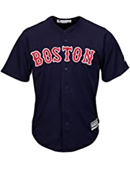 Majestic MLB Boston Red Sox coolbase Maillot Alternate Bleu marine