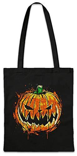 Urban Backwoods Pumpkin Head Hipster Bag Beutel Stofftasche Einkaufstasche