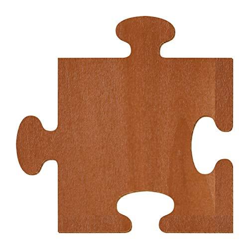 Palisander braunes Holz Puzzle - Deko Zuschnitte Größenauswahl, Höhe x Breite:48 x 48cm