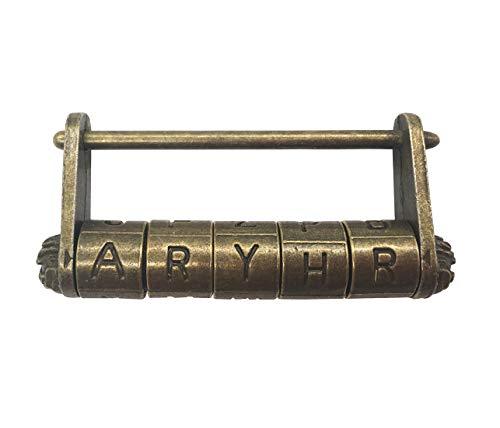 Candado de combinación de dígitos de bronce antiguo para gimnasio, e