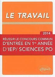 Le Travail Réussir le Concours Commun en 1ère Année d'IEP/Sciences Po 2014
