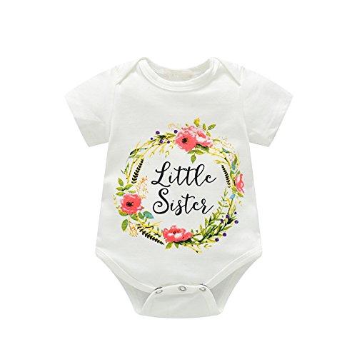 Brightup 2018 Tops, Kleine Schwester Strampler, Große Schwester Gedruckt T Shirt, Kinder Baby Mädchen T Shirt/Bodysuit, Sommer Tee Shirts