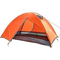 AiNaMei Camping al aire libre anti-disturbios sol tienda de lluvia 2 personas, Orange