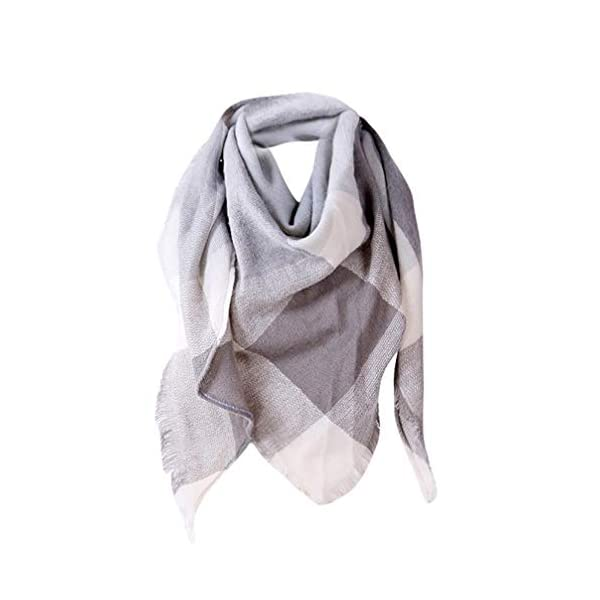 1PC Women Shawl Cashmere Classic Autumn British Plaid Triangle Scarf Wool Scarves Scarf