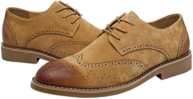 DHFUD Sommer Schuhe Koreanische Casual British Retro Leder Herrenschuhe