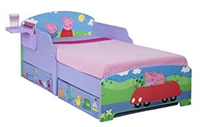 Peppa Pig Toddler Bed With Underbed Storage And Shelf