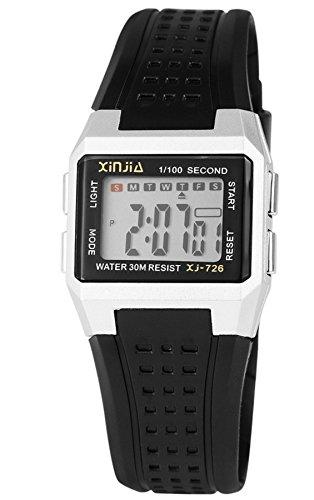 Xinjia Niños Reloj De Pulsera Digital Niños Reloj con pulsera de silicona muchas funciones