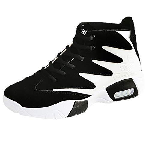Dorical Herren Damen Laufschuhe Air Sneakers Sportschuhe Wanderschuhe Mode Freizeitschuhe Rutschfeste Joggingschuhe Fitnessschuhe Outdoor Turnschuhe Leichte Bequem Straßenlaufschuhe(Schwarz,43 EU)