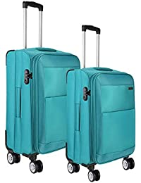 fa81288d06ac Nasher Miles Manarola 4 Wheel Soft-Sided Luggage Set of 2 Trolley Bags (20