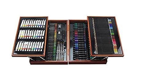 HJXJXJX Kinder Geschenk-Box, Aquarell Stift, Pinsel, Zeichnung Werkzeuge, 176 Anzug