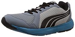 Puma Mens Descendant v2 IND DP Tradewinds-Grey-Black-Ocean Mesh Running Shoes - 7 UK/India (40.5 EU)