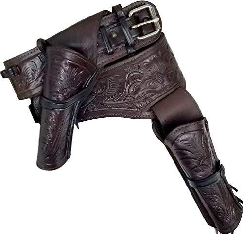 Modestone 357/38 Western Left Cross Draw Double Pistolengürtel Leather 34 -