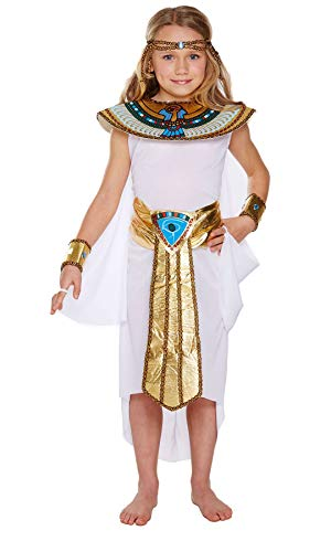 Islander Fashions Ragazza egiziana Costume Completo Bambini Bambini Festa della Settimana Fancy Party Dress Large 10-12