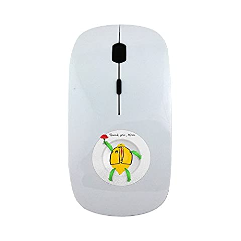 Wireless mouse with This is one of Thank you Mom series for the coming Mother s Day. The image which depicts a white plate with the image which includes the word Thank you Mom and a cartoon character