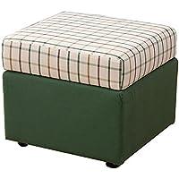 Preisvergleich für Lagerung Hocker LXF Tuch Kunst Sofa Hocker Gitter Picknick-Sitz Vielseitig Platzsparendes Grün (Größe : 50*50*50cm)
