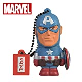 Chiavetta USB 8 GB Captain America - Memoria Flash Drive 2.0 Originale Marvel Avengers, Tribe FD016401