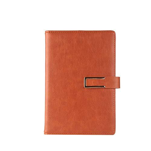 A5 Kunstleder Notebook Einfache Art Notizblock mit Schnalle Kunstleder Retro Notizblock für Office Home Gelb 1pc