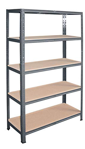 shelfplaza® HOME Steckregal 180x120x50cm anthrazit 5 Böden - Kellerregal Lagerregal Metallregal Schwerlastregal Garagenregal Fachbodenregal Werkstattregal Haushaltsregal Ordnerregal