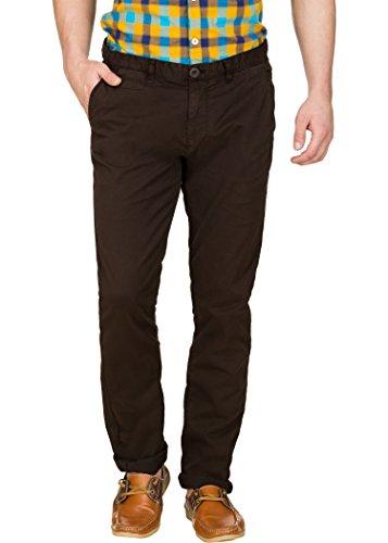 Zovi Men's Slim Fit Brown Mach-chinos(12065900901)