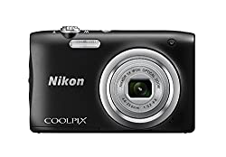 Nikon Coolpix A100 Digital Camera, 20MP, Black
