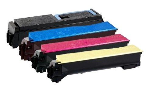 4X Eurotone Toner TK-570 XXL Set für Kyocera FS-C5400 DN/FS-C5400DN / FSC FS-C 5400 DN 5400DN - TK570 Alternative: TK-570K TK-570C TK-570M TK-570Y -