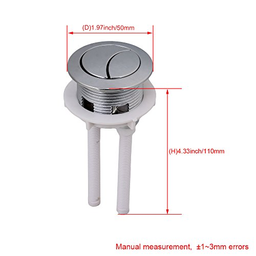 Botones de presión dobles del depósito de agua del retrete de Yibuy para la tapa de la cisterna del agujero de 38m m