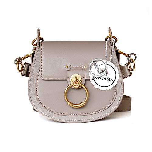 Onzama Damen Designer Schulter Sattel Geldbörsen Armband Crossbody Taschen Kuh Leder Ring Satchel - Tote Stil Schulter Tasche
