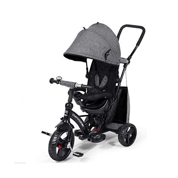 GSDZSY - Baby Tricycle Trike Stroller First Bike,3 In1 With Adjustable Push Handle Bar, 1.5-6 Years Old,Black GSDZSY  1