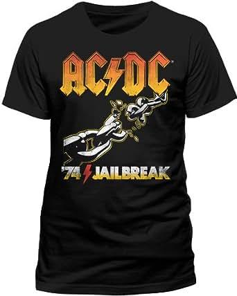 Live Nation Men's AC/DC - 74 Jailbreak Crew Neck Short Sleeve T-Shirt, Black, Small