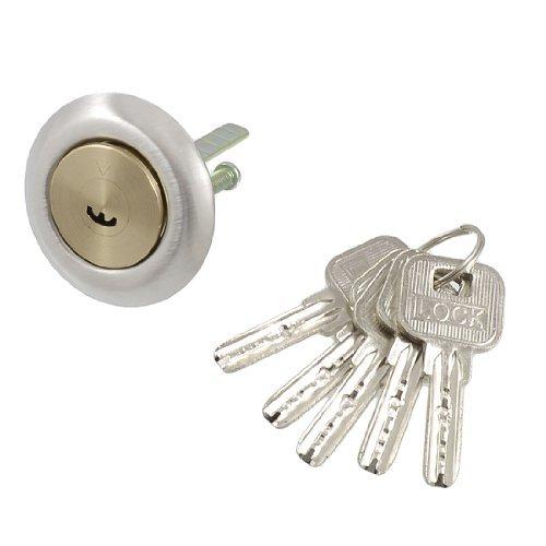 DealMux Messingschraube Crescent Keyway Sicherheitsschließzylinder mit 5 Metalltasten