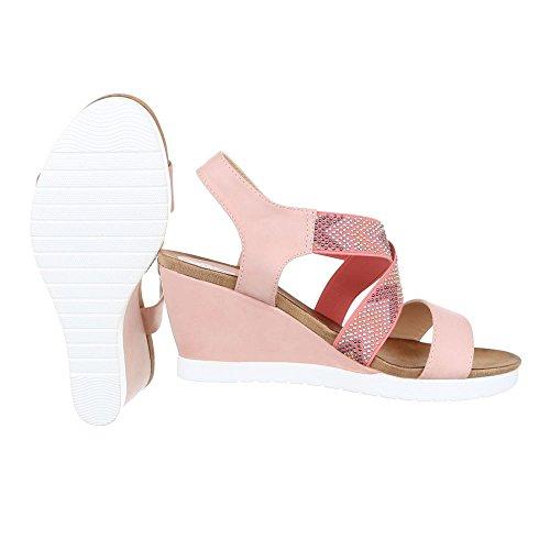 Ital-Design , Sandales pour femme Rose